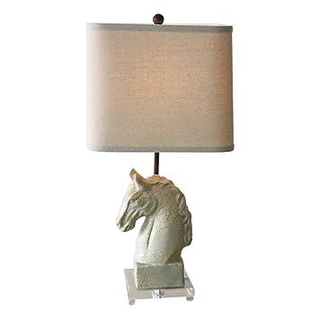 Amazon.com: Lámpara de mesa de estilo americano retro para ...