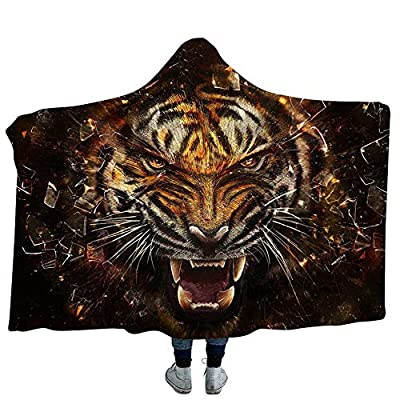 Kids Adult Huggable Hooded Blanket - Tiger - The Perfect Playmate for Your Child Bathrobes Cloak Hood Bath