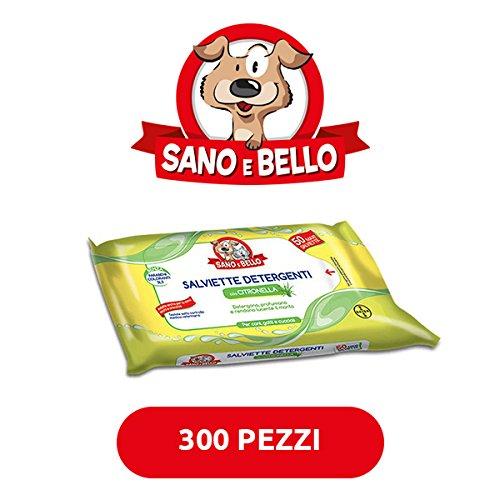 Bayer Reinigungstücher für Hunde und Katzen Multipack 300Stück (6x 50Stück) Citronella