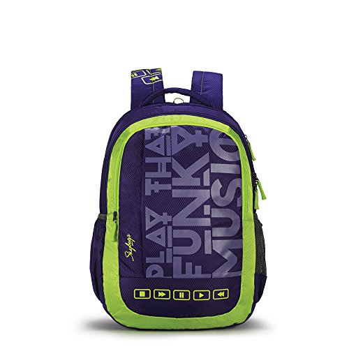 Skybags Bingo Plus 35.9856 Ltrs Purple School Backpack (SBBIP01PPL)