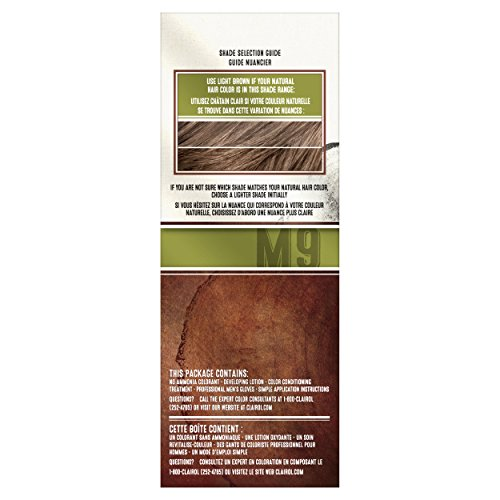 Clairol Natural Instincts Semi-Permanent Hair Color Kit For Men, 3 Pack, M9 Light Brown Color, Ammonia Free, Long Lasting for 28 Shampoos by Clairol (Image #5)