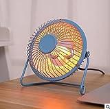 Portable Mini Heater Space Heater Winter Keep Warm Desk Fan for Home Office (Blue)