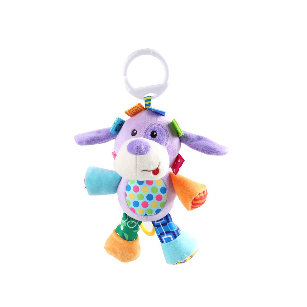 VX-star Cute Dog Shape Design Bell Rings Toys Multifunctional Solf Baby Rattle Toys