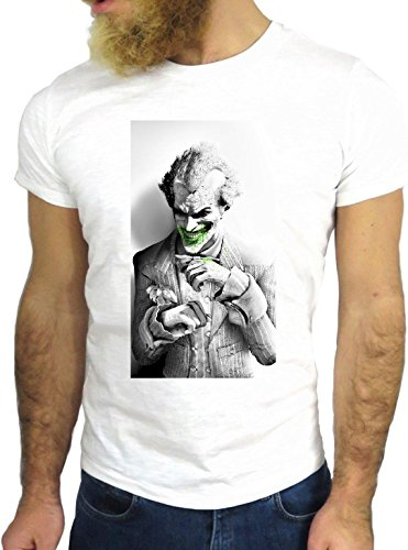 T-SHIRT JODE GGG24 Z0921 CLOWN COOL VINTAGE ROCK FUNNY FASHION CARTOON NICE AMERICA BIANCA - WHITE L