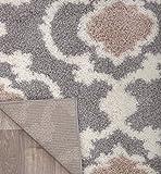 """Cozy Moroccan Trellis Gray/Cream 5'3"""" x 7'3"""" Indoor"""