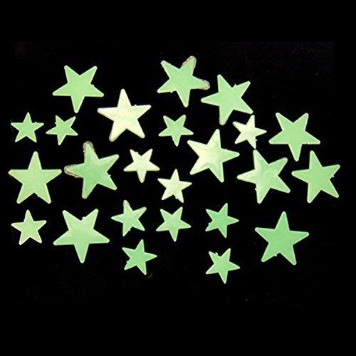 35Pcs Glow In Dark Stars Decal Art Wall Stickers Room D?cor