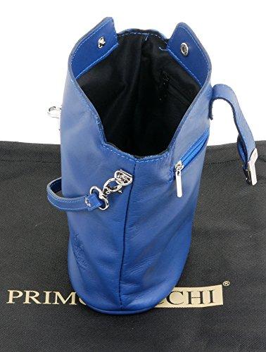 a tracolla una Blu o Borsa protettiva piccolo reale con Include in marca pelle struzzo di effetto custodia italiana tracolla anteriore Bdpwt1Uwq