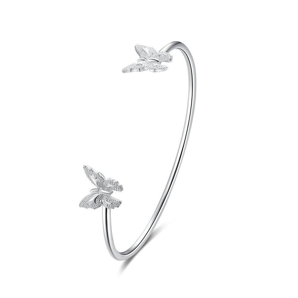 Joshua Home Jewelry Mothers Day Bracelet Butterfly Bangle Bracelet Womens Butterfly Bracelets for Women Cuff Bracelet Torque Bangle