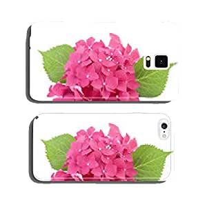 Hydrangea flowers isolated on white cell phone cover case iPhone6