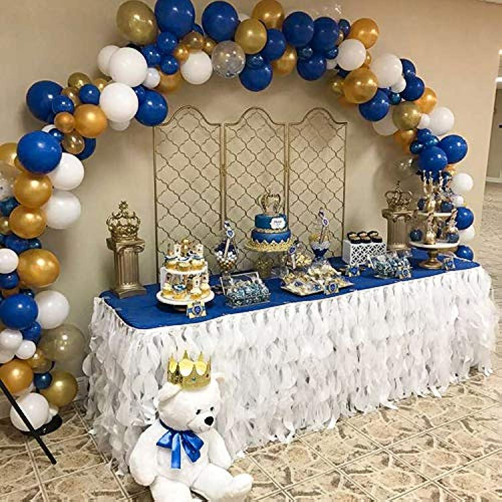 Blue Gold White Balloons 37 Pcs 12 Navy For Wedding Royal King