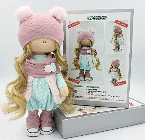 DIY Doll Sewing Kit Pattern Make your own Interior Tilda Doll (Pompom) from D'EUNA InteriorDolls
