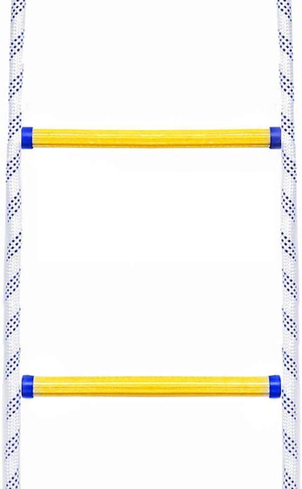Notfall-Sicherheitsleiter mit Karabiner Haken Flucht aus Fenster und Balkon f/ür Feuerleiter Feuerleiter 3m//5m//8m//10m//15m Rettungsseilleiter