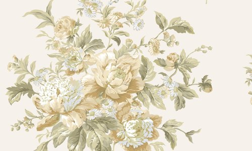 Waverly 5513113 Garden Beige and Peach Peonie Floral Wallpaper