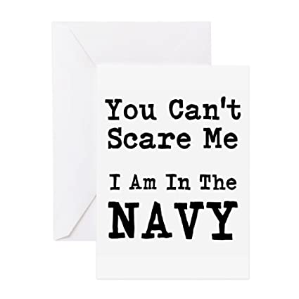 Amazon cafepress you cant scare me i am in the navy greeting cafepress you cant scare me i am in the navy greeting cards greeting card m4hsunfo