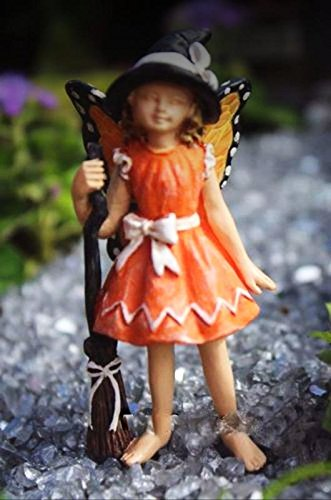 Miniature Dollhouse Fairy Garden Claire Halloween Witch Butterfly