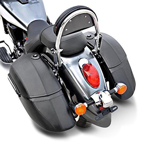 Shadow 750 Black Spirit Alforjas rigidas 33l Craftride K3 Honda Rebel CMX 500 VTX 1300//1800 Shadow VT 1100 C2// VT 1100 C3 Aero//VT 125 C//VT 600 C//VT 750 C//VT 750 Spirit