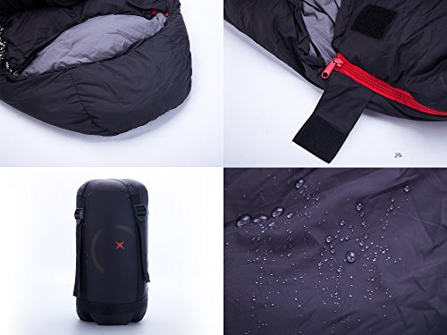 X-CHENG Ultralight Down Sleeping Bag - Warm without Weight - Save Space and Shave Weight - Can be Compressed into Ultra-small Size Easy to Carry - Waterproof, Comfort for the Indoor or Outdoor by X-CHENG (Image #3)