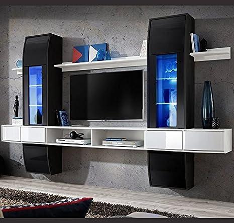Muebles Bonitos Mobile da soggiorno, modello Nilson, colore: bianco ...