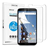 Google Nexus 6 Screen Protector, [2 Pack] OMOTON Tempered Glass Screen Protector for Motorola Google Nexus 6 [6.0 Inch] with [9H Hardness] [Crystal Clear] [Scratch Resist] [No-Bubble]