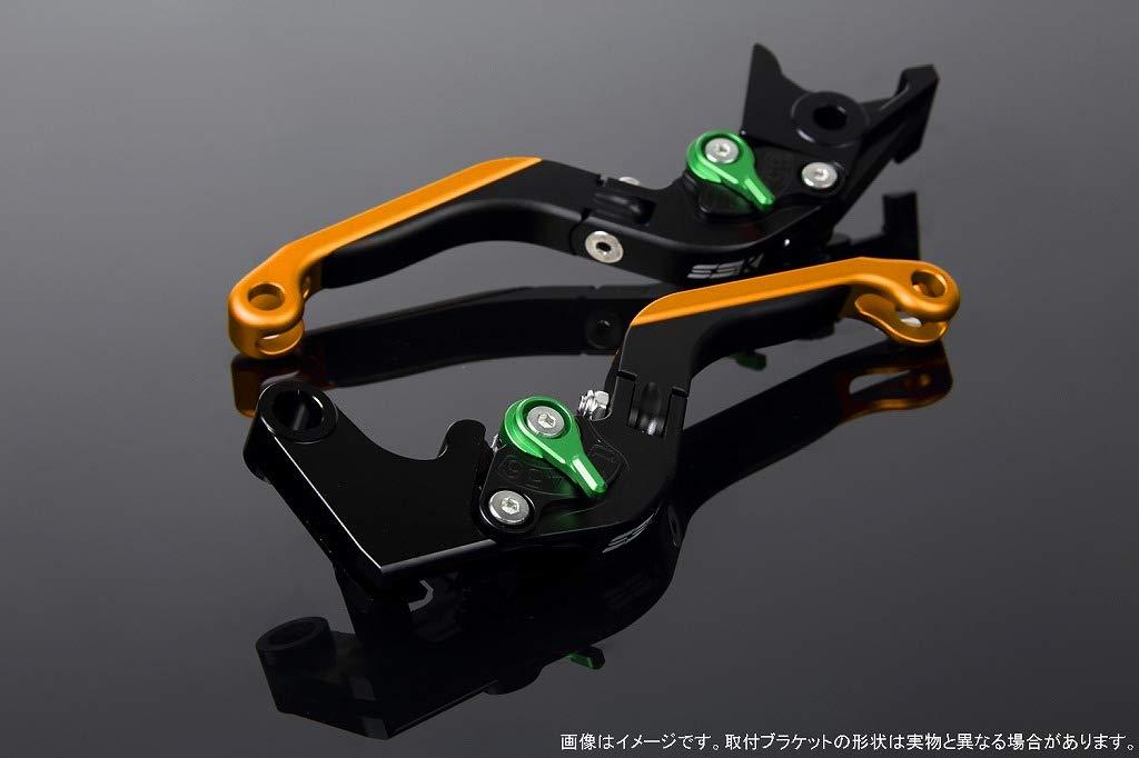 SSK アジャストレバー 可倒延長式 レバー本体カラー:マットブラック アジャスターカラー:マットグリーン エクステンションカラー:マットゴールド LVGM029BK-GNGD B07MX7B5L3