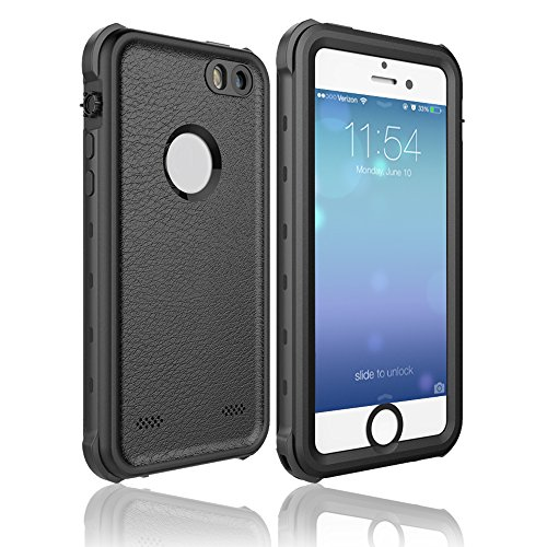 Redpepper Waterproof Case for iPhone 5/5s/se, Full Sealed Underwater Protective Cover, Shockproof, Snowproof and Dirtproof for Outdoor Sports - Diving, Swimming, Running, Skiing, Climbing(Black)