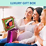 SOFT CLOTH BABY BOOK for Newborn, 1 Year Old & Toddler, Touch and Feel Activity with Crinkle Peekaboo, Educational Toy for Boy & Girl in Gift Box, Perfect Baby Shower Gifts, Non-Toxic Washable Fabric