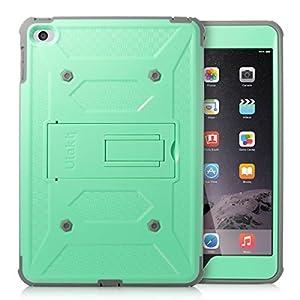 iPad Mini 4 Case, ULAK Hybrid KNOX ARMOR Heavy Duty Shockproof Dual Layer Protective Case for Apple iPad Mini 4 Device (Green)