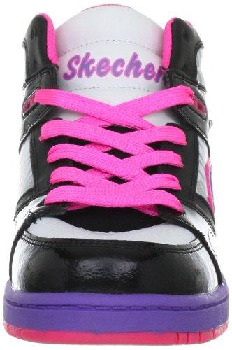 Skechers SugarcanesShimmies 80948L, Zapatillas de Cuero, Niñas Negro (Bkmt)