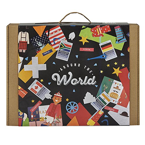 [JackInTheBox Around The World 6-In-1 Educational Craft Toy: Gift For 5 Years And Up: World Flags, Flash Cards, Costumes, 3D Monuments, And] (National Costume Of All Countries)