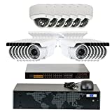 5MP (2592x1920p) 32 Channel 1920P NVR Network PoE IP Security Camera System - HD 1920p 2.8~12mm Varifocal Zoom (14) Bullet and (6) Dome IP Camera - 5 Megapixel (3,000,000 more pixels than 1080P)