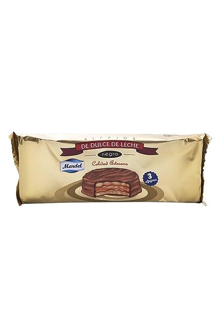 3 unidades x Alfajores de Chocolate Mardel (dulce de leche sándwiches para galletas