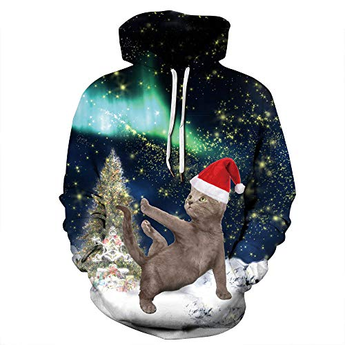 Star Longues Tops Imprimé Cat Manches Trackstar Halloween Sweat Pullover Xmas Unisexe Capuche 3d Hoodie À Blouse wq4zXxU6
