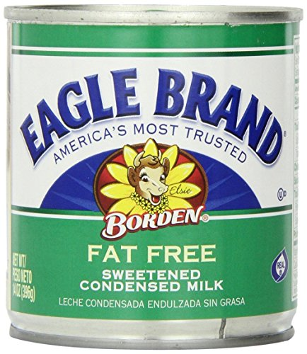 Eagle Brand Fat Free Sweetened Condensed Milk (3 Pack) 14 oz Cans by Borden