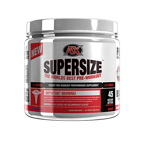 Athletic Xtreme SuperSize Nitric-Oxide Boosting Pre-workout | Energy, pumps, and longer reps during workouts | Lemonade flavor 45 Servings (Pump Fuel Creatine)