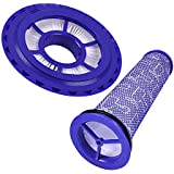 KEEPOW HEPA Post Filter & Pre-Filter Replacement for Dyson DC41, DC65, DC66, for Animal, Multi Floor and Ball Vacuums Part # 920769-01 & 920640-01