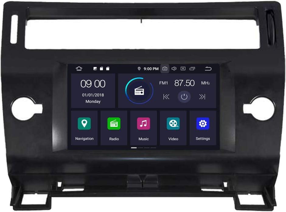 RoverOne Radio del Coche para Citroen C4 C4L 2010-2017 con Android Reproductor Multimedia Navegacion GPS Pantalla T/áctil Bluetooth Est/éreo WiFi USB Mirror Link