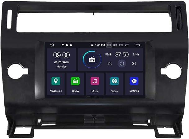 Roverone Octa Core Android Sistema Autoradio GPS de 7 Pulgadas para Citroen C4 2004 – 2010 con Sistema de navegación Radio estéreo DVD Bluetooth SD ...