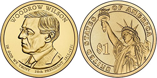 2013 D Woodrow Wilson   Roll Of 25 Presidential Dollars