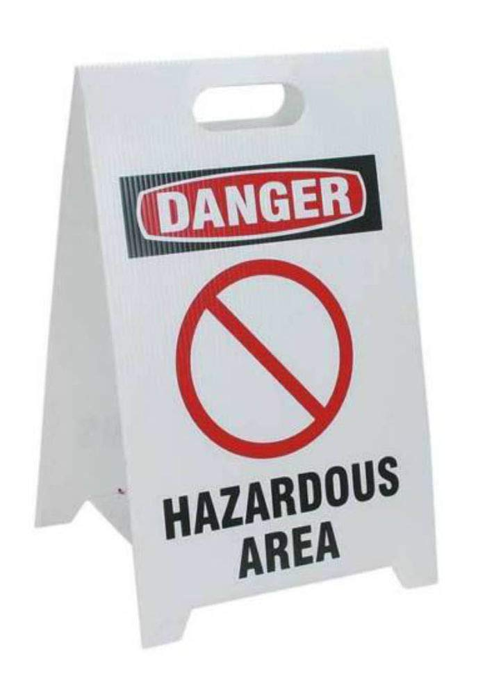 Floor Stand Safety Sign,12 x 20 TP-DHAZA