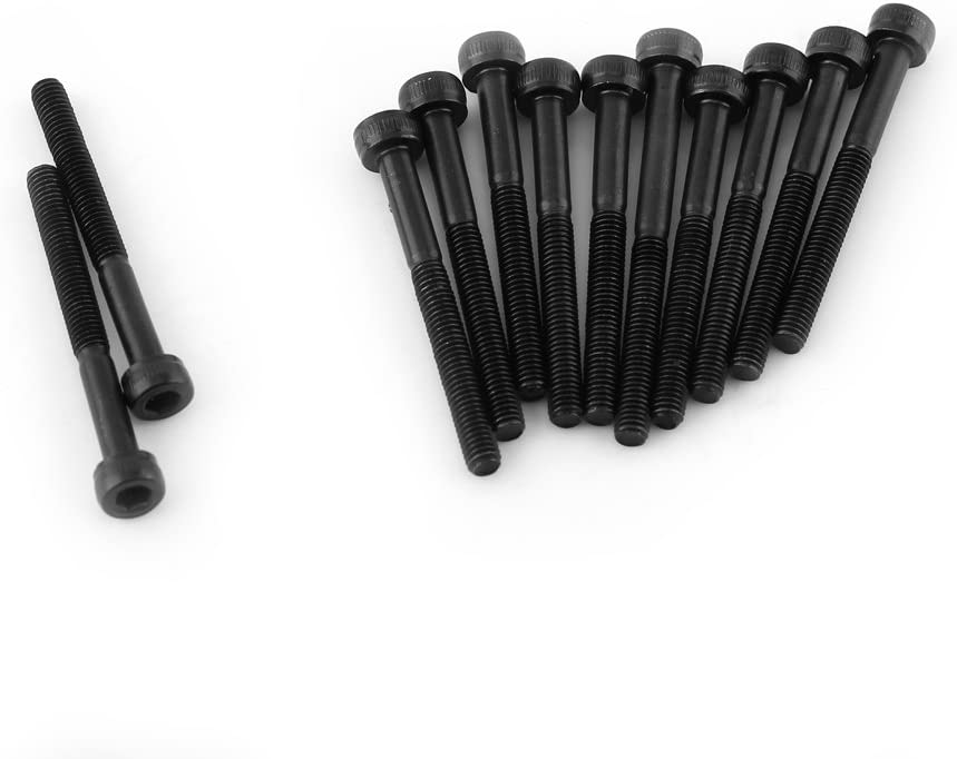 M3*4mm M3 Black Hex Sockel Kappe Kopf Schrauben Set 12,9 Grad Legierung Kohlenstoffstahl DIN912 4-50mm 50pcs Vollgewinde Plain Finish Vollgewinde