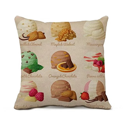 rewe-18x18-cotton-linen-decorative-throw-pillow-case-cover-with-ice-cream-print-pattern