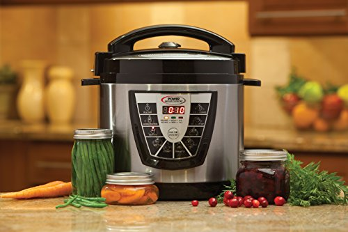 Power Pressure Cooker Xl 8 Quart Digital Non Stick Stainless Steel Steam Slow Cooker And Canner