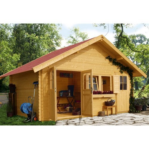 Karibu Woodfeeling Gartenhaus Lagor 1 40 mm 2-Raum-Haus