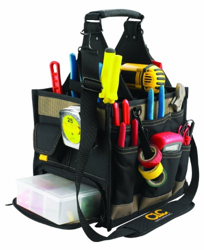 Custom LeatherCraft 1528 23 Pocket Large Electrical and Maintenance Tool Carrier (Plumbers Tool Box compare prices)