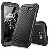 all boost mobile phones - Galaxy J7 Sky Pro Case, Galaxy J7 Perx Case, Galaxy J7 V Case, Galaxy Halo Case, Galaxy J7 Prime Case, TJS Hybrid Shock Absorbing Impact Resistant Armor Case Carbon Fiber Back Hard TPU Inner Layer