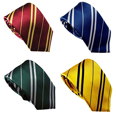 LilMents 4 Pack Pinstriped Formal Necktie Tie Set (Multicolored Set A) ()