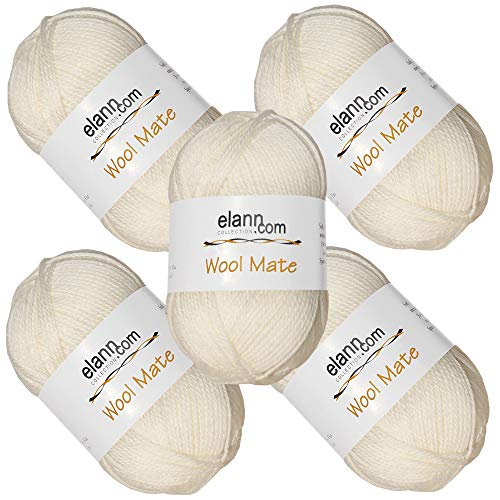 elann Wool Mate Yarn | 5 Ball Bag | 001 ()