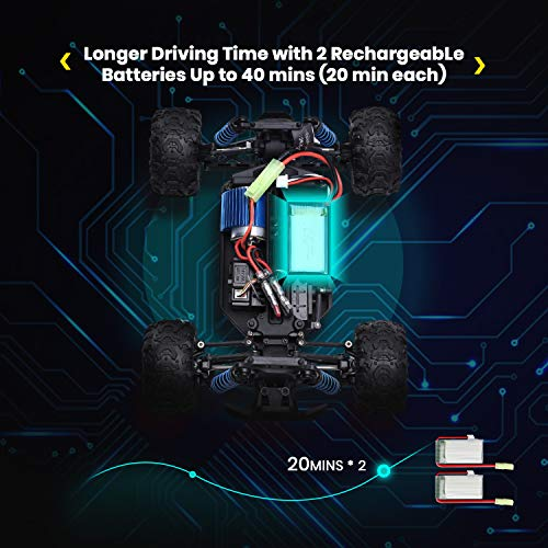 DEERC RC Cars 9300 High Speed Remote Control Car for Kids Adults 1:18 Scale 40 KM/H 4WD Off Road Monster Trucks,2.4GHz…