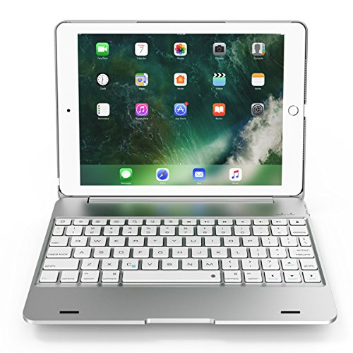 SODIAL Silver For Ipad Pro 9.7 Notebook Flip Cover Bluetooth Keyboard by SODIAL (Image #1)