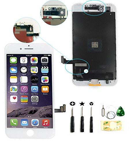 ZTR LCD Touch Screen Digitizer Frame Assembly Full Set LCD Touch Screen Replacement for iPhone 7 plus 5.5 - White